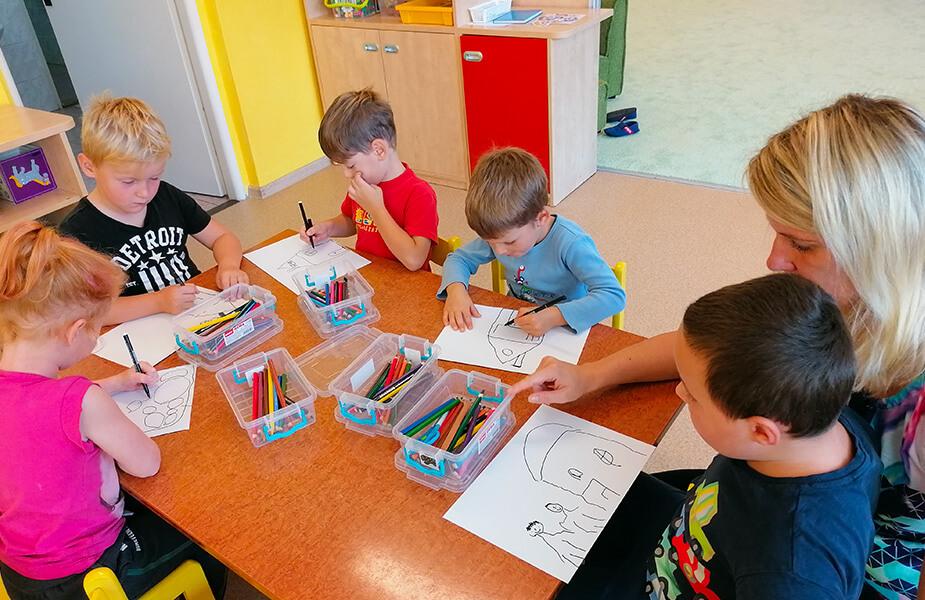 Děti malují seniorům 2020