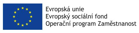 Evropský sociální fond - Operační program Zaměstnanost - logo