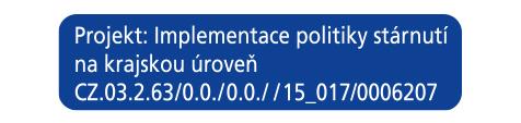 Projekt - Implementace politiky stárnutí na krajskou úroveň - logo