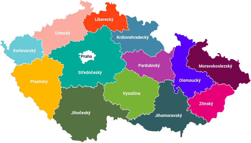 Senioři v krajích - mapa kontaktů
